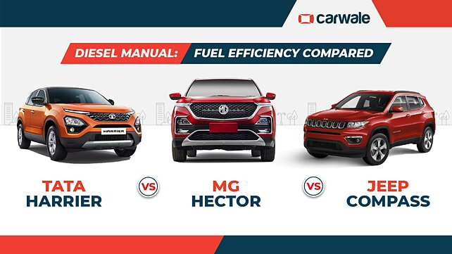 MG Hector Vs Tata Harrier Vs Jeep Compass Diesel Manual: Fuel Efficiency Compared